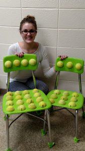 Speech pathologist cuts tennis balls and glues them to chairs, sees instant change in students