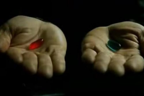 Red pill blue pill1 500x333 Choice