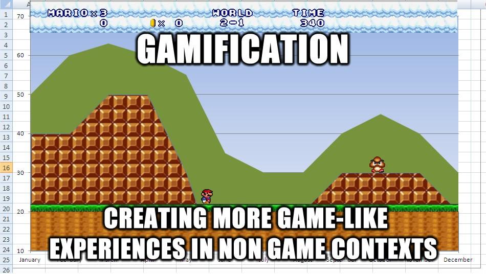 Gamification mario chart