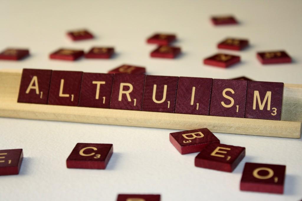 Altruism Altruism Kindness begets kindness