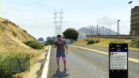 468px GTA V HD SCREENCAPS PS3 856 GTA Text Message
