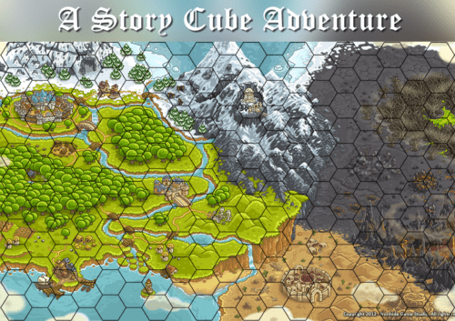 Fantasy Cubes map 500x353 Unleash your creativity with Story Cubes
