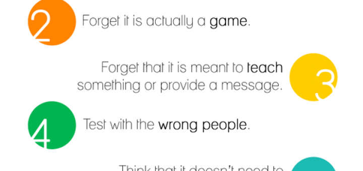 7 deadly sins of serious game design 720x340 7 Deadly sins of making serious educational games