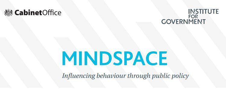 Mindspace2 MINDSPACE 8211 Influencing Behaviour