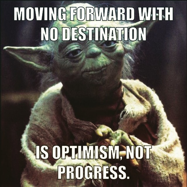 Progress needs a destination