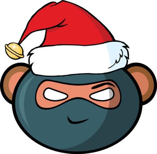 Christmas Ninja Monkey