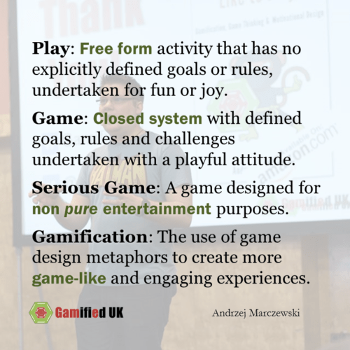Definitions of Games and More
