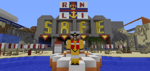Image 520x245 News RNLI creates Minecraft beach survival game to teach water safety to children