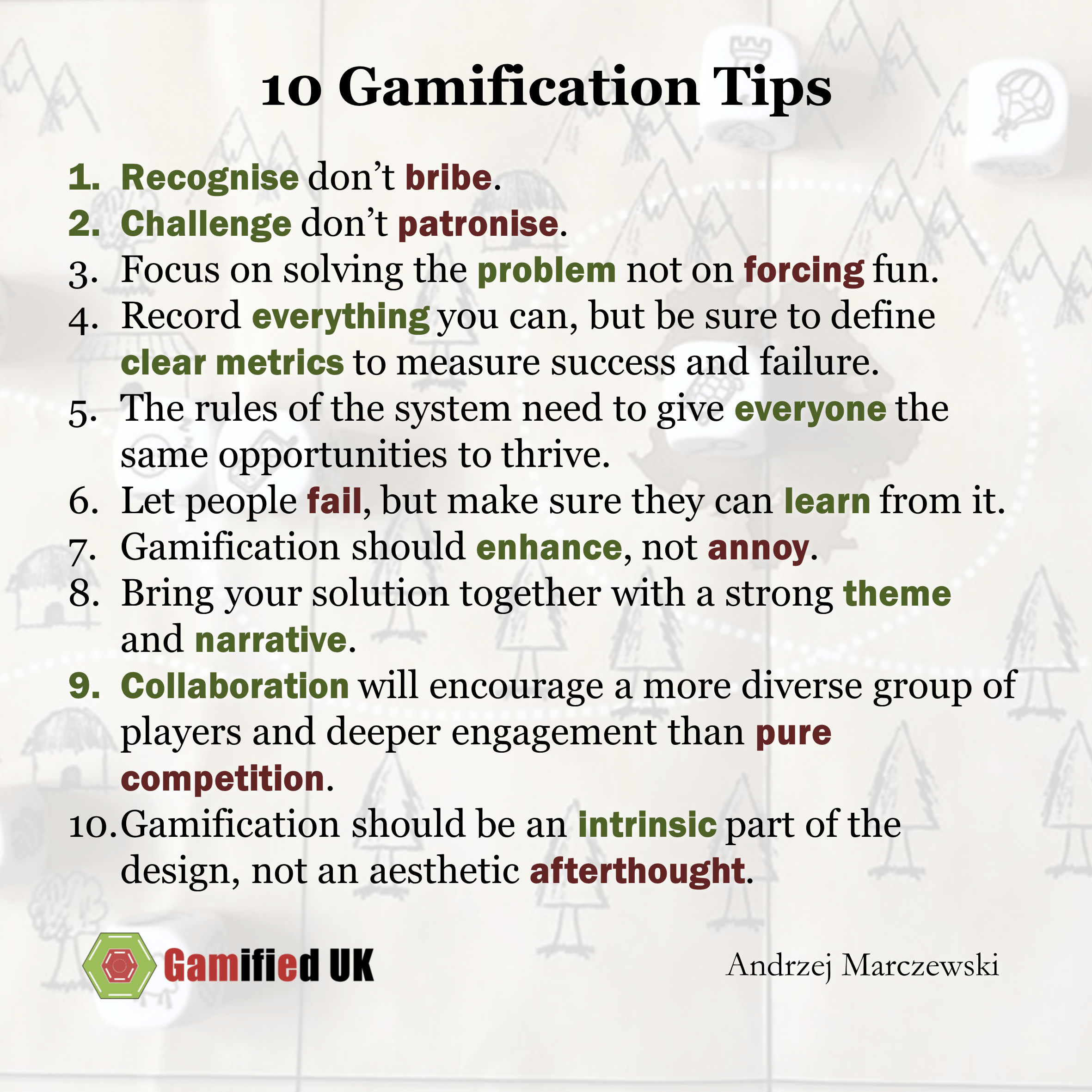10 gamification tips 10 Top Gamification Tips 8211 And A Question