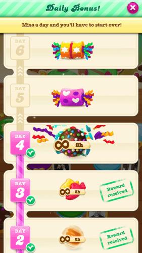 Soda Saga Reward Schedule 281x500 Learning From Games Candy Crush and Soda Saga