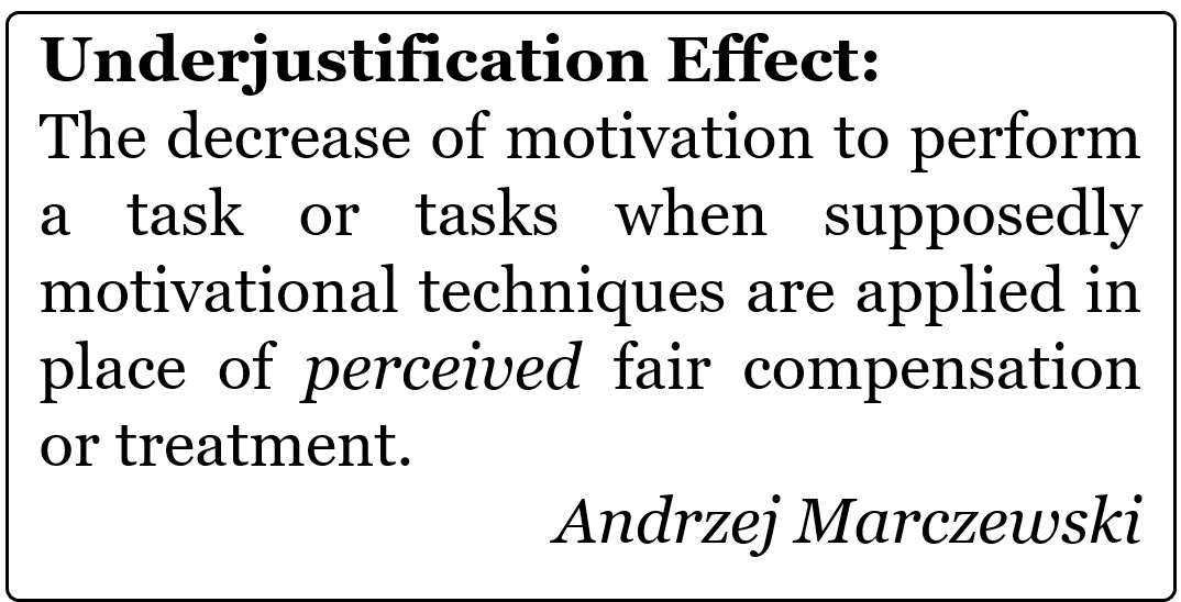 Underjustification Effect Underjustification Effect