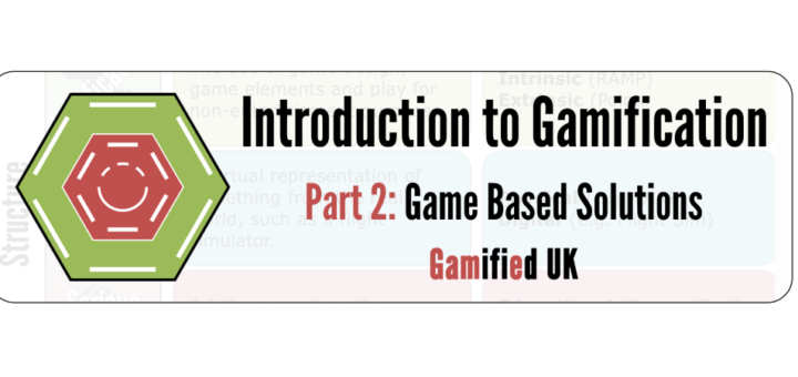 Instroduction to Gamification Part 2a 720x340 Introduction to Gamification Part 2 Game Based Solutions