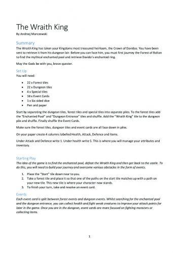 Wraith King Game pdf 353x500 Wraith King Game