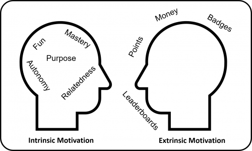 Intrinsic vs Extrinsic Motivation 500x300 But What If They Get Addicted To Your Gamified System